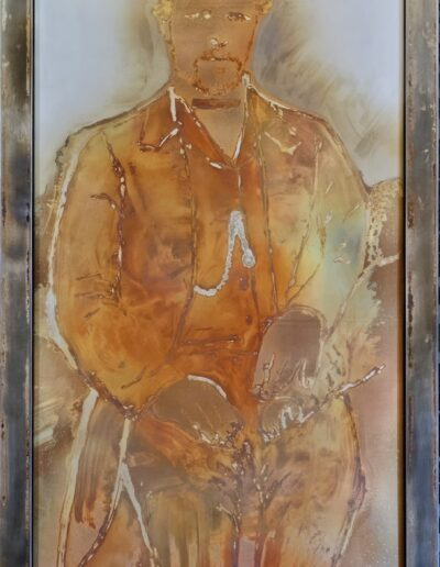 """Portrait of an Immigrant"" 27""x51"" Samuel Faddies"