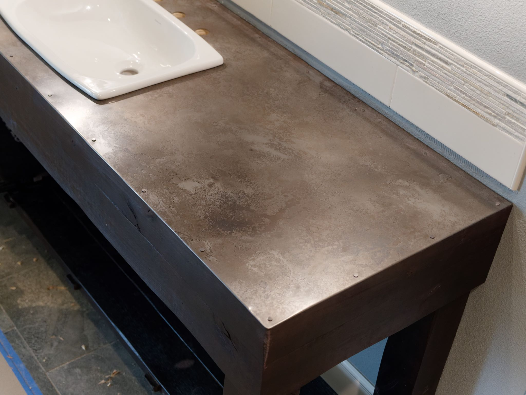 Volcanic Stainless Countertop