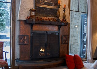 copper fireplace surround
