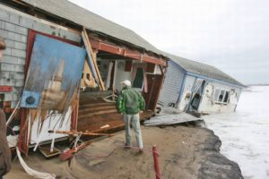 Rhode Island's southern shore took a direct hit from Hurricane Sandy's in 2012.