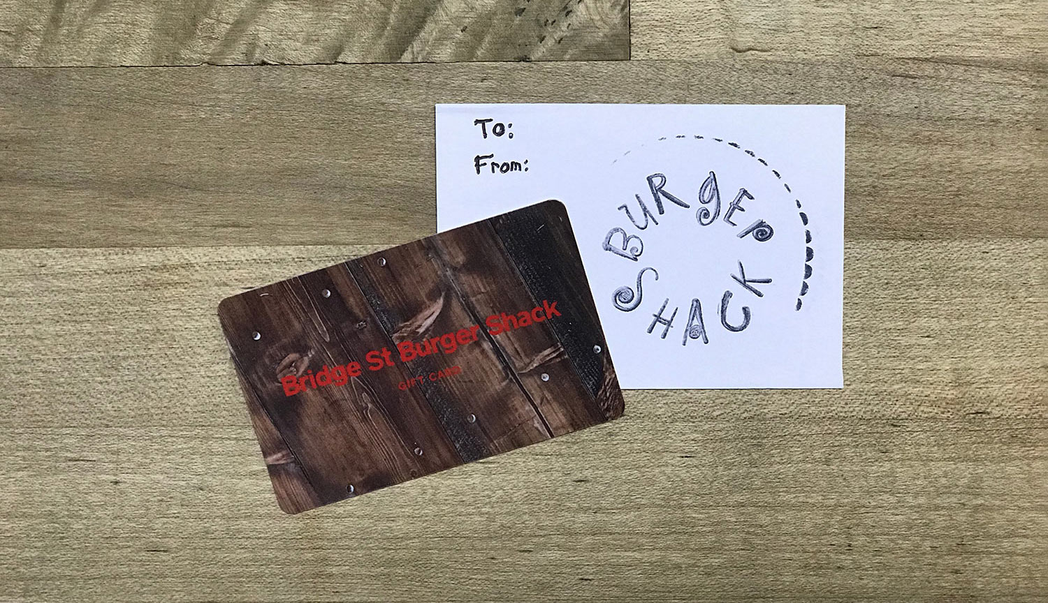Burger Shack Gift Cards and Merhandise