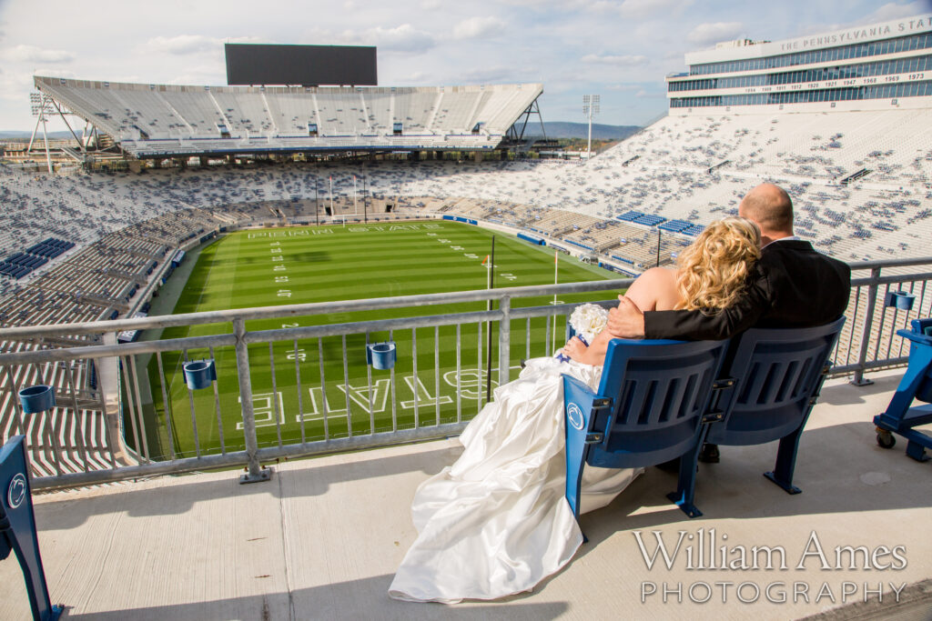 Beaver Stadium wedding photo