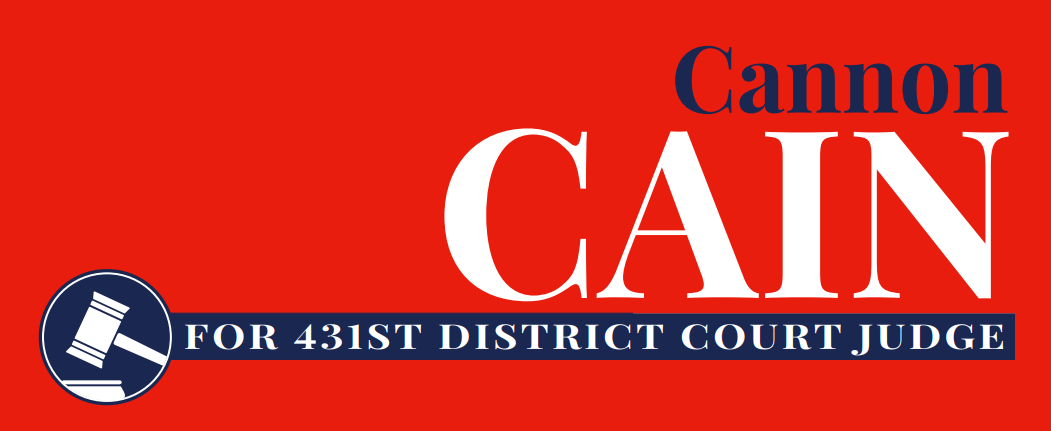 Elect Cannon Cain, Republican, in the March 3, 2020 Primary Election