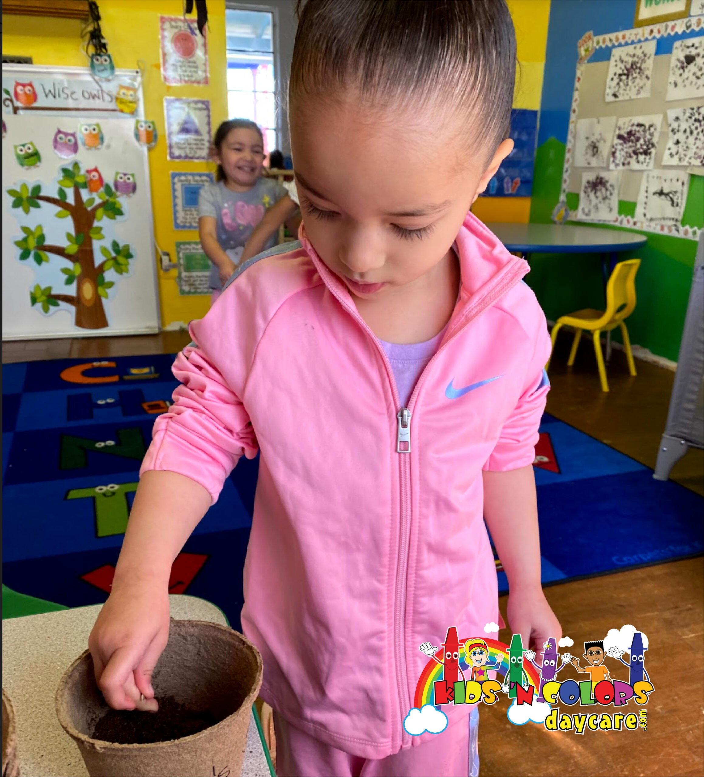 Planting at daycare 2
