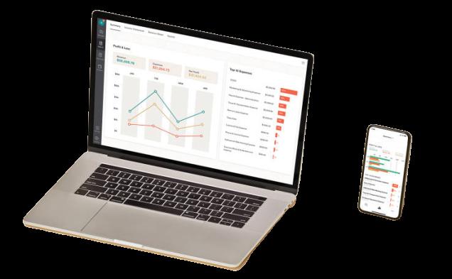 Quickbooks on laptop and smartphone