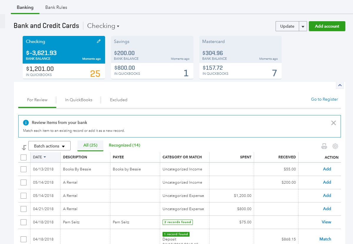bank and credit dashboard