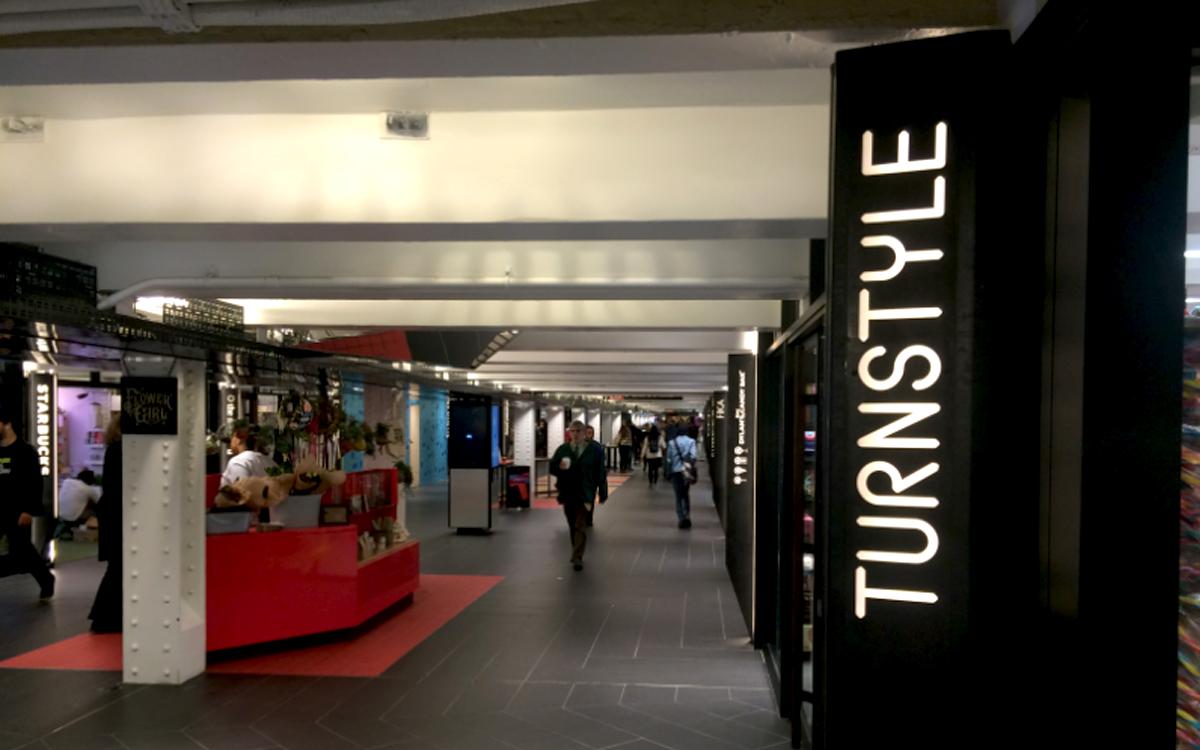 Custom shop displays for Columbus Circle Turnstyle