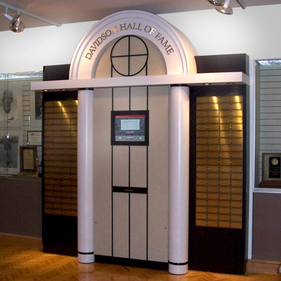 Kiosk at Davidson College designed with columns to match the school's existing architecture