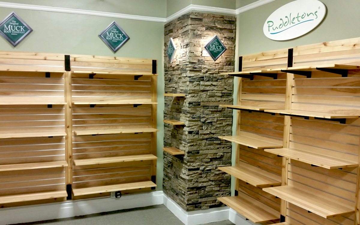 Custom product fixtures and lighting for Muck Boots