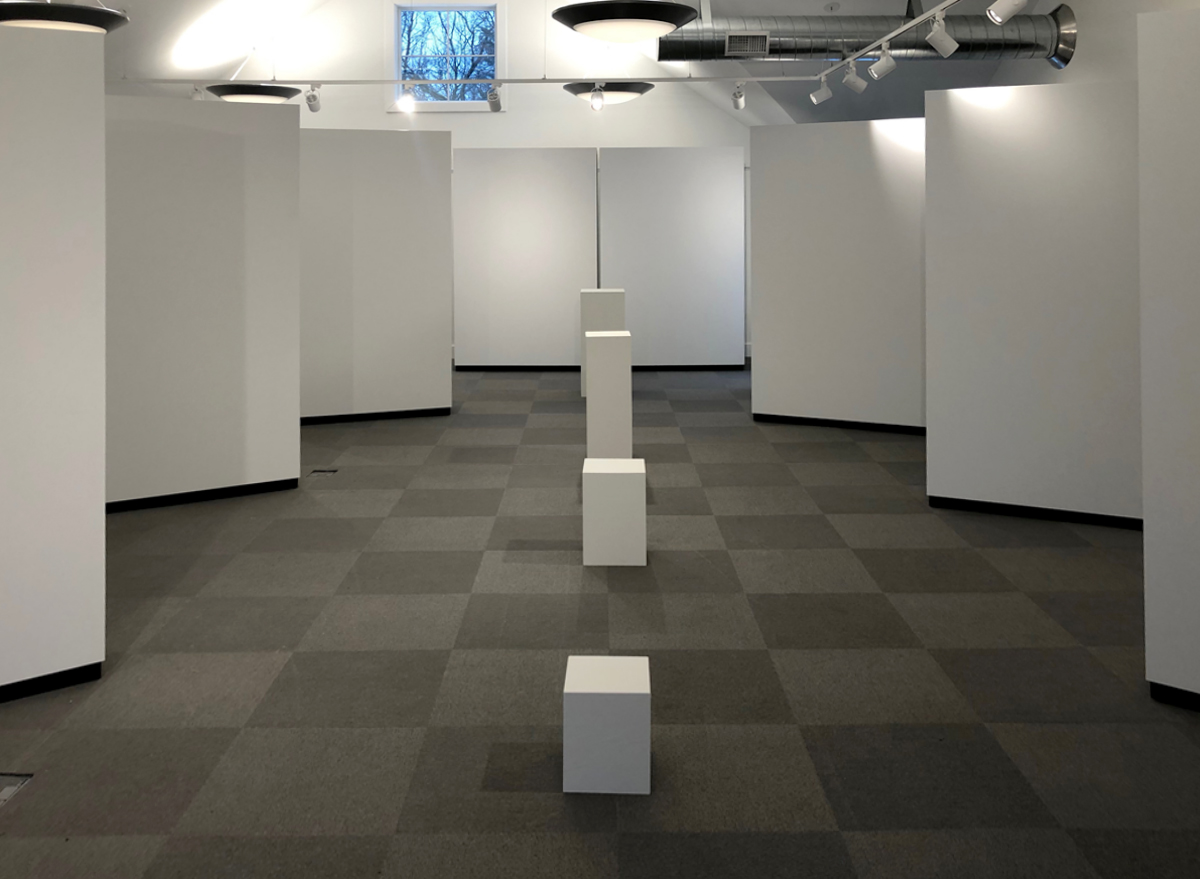 Rental Walls and pedestals for gallery exhibit at Monmouth County