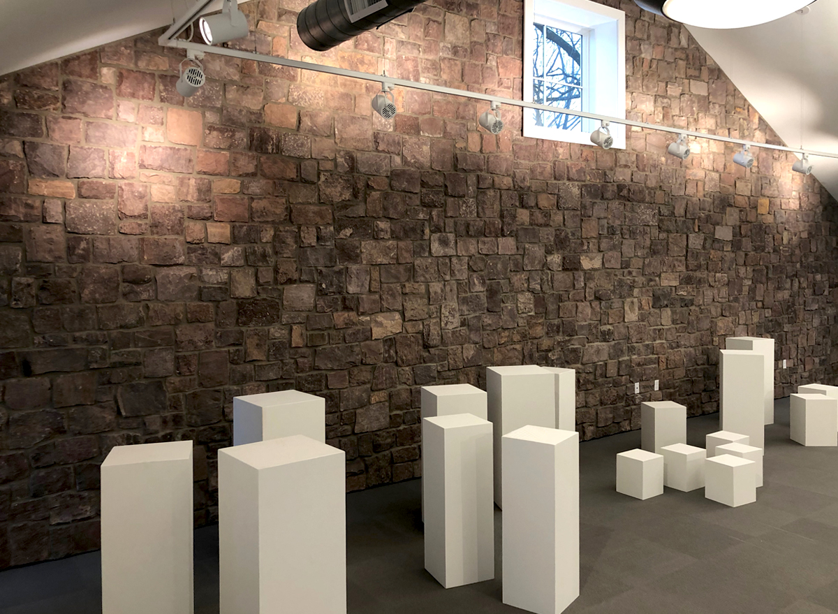 Pedestals for art exhibit in Monmouth County