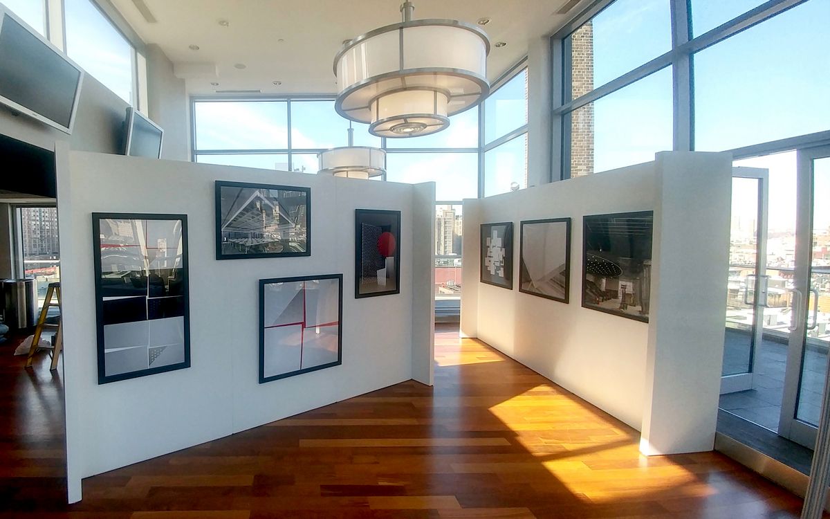 Rental gallery walls with hanging art in NYC setting