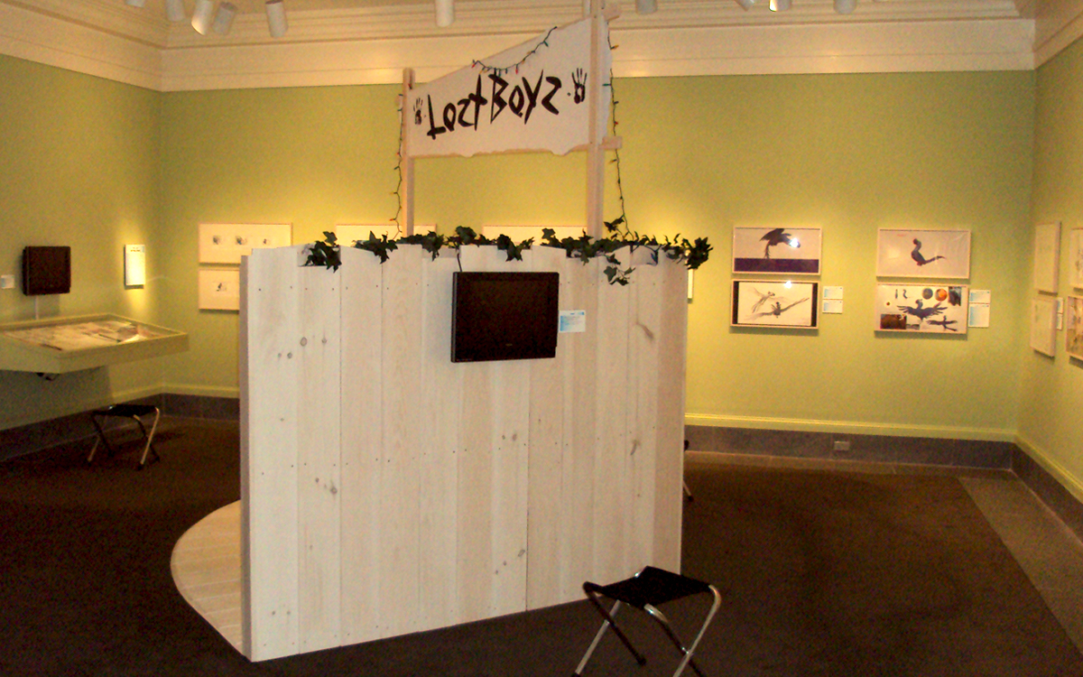 Lost Boyz interactive display featuring a 3D artist's studio replica for the Ice Age and Rio movies by Blue Sky Studios