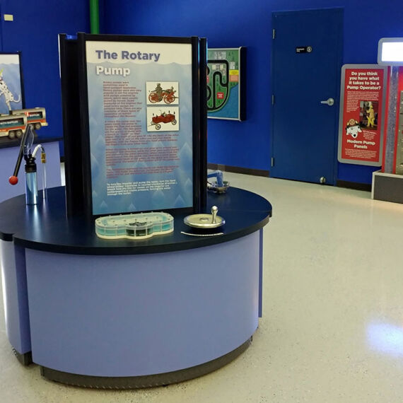 FASNY museum interactive kiosk for children's learning