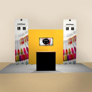 demo backdrop, virtual tradeshow, virtual backdrop