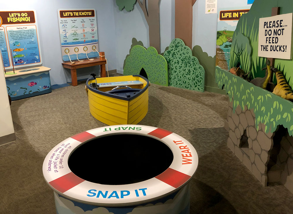 children's museum interactive exhibit that's colorful and teaches about the water