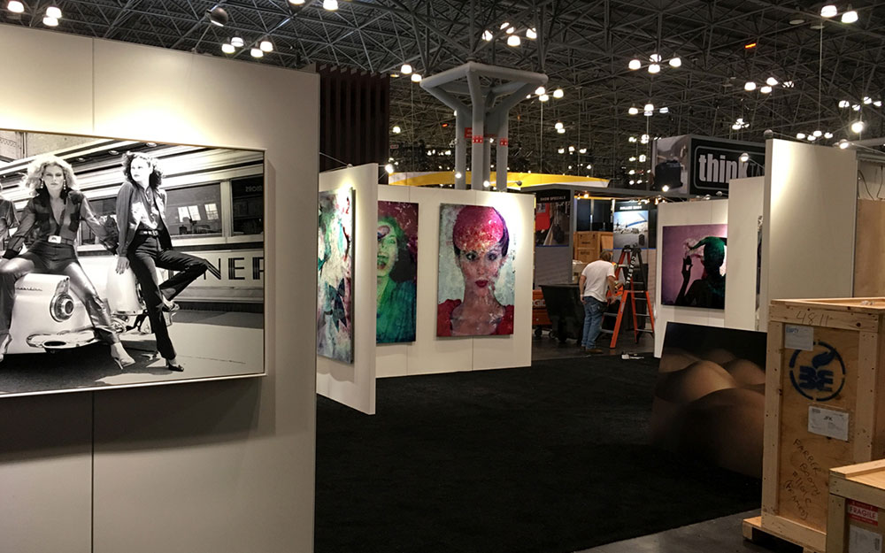 Art hanging walls for Chromalux in New York City