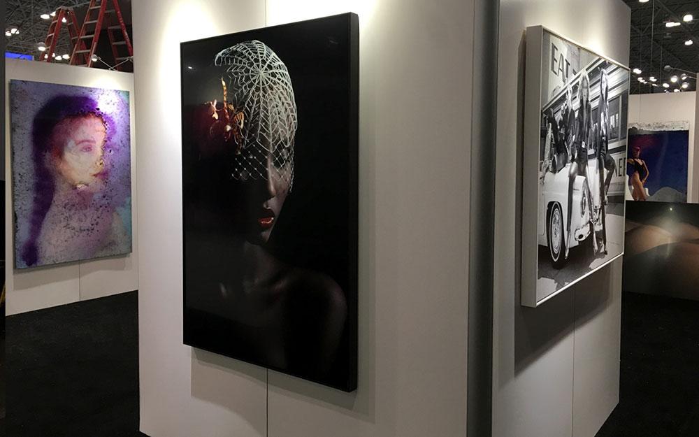 Custom rental gallery walls for Chromalux