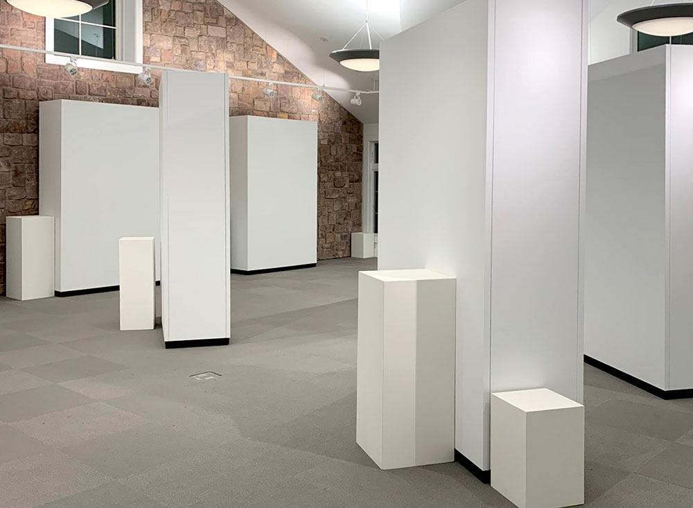 Rental Gallery Walls and pedestals for exhibit at Monmouth County