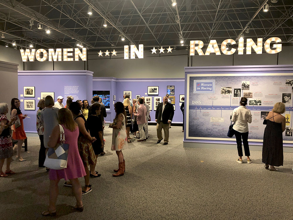 Exhibition for Women In Racing Exhibit at the National Racing Museum and Hall of Fame