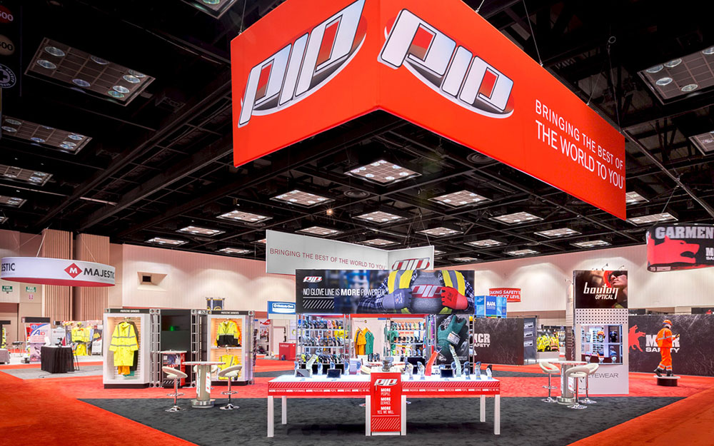 trade show exhibit booth for PIP