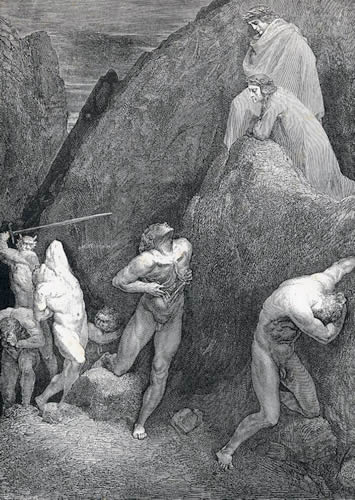 Muhammad in Hell; Dante's Inferno Canto 28, verses 30-31; Illustration by Gustave Dore Source: Gutenberg Project
