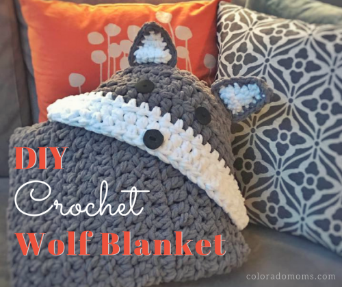 DIY Crochet Wolf Blanket