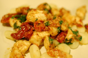 Gnocchi with Chicken and Sun Dried Tomatoes