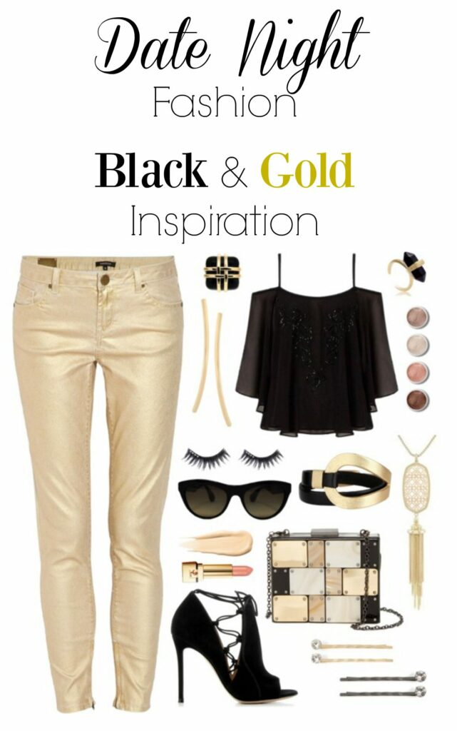 Date Night Black and Gold Fashion
