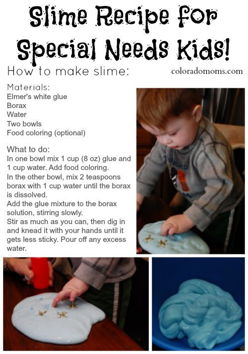 Slime Recipe for Special Needs Kids
