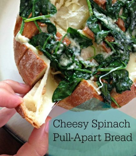 Spinach and Cheese Pull Apart Bread Recipe