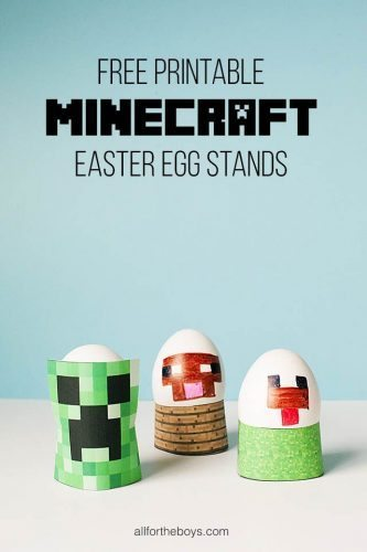 free minecraft printable easter egg stand
