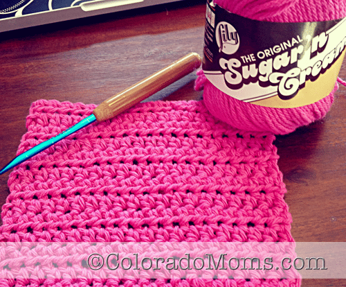 how to crochet a washcloth