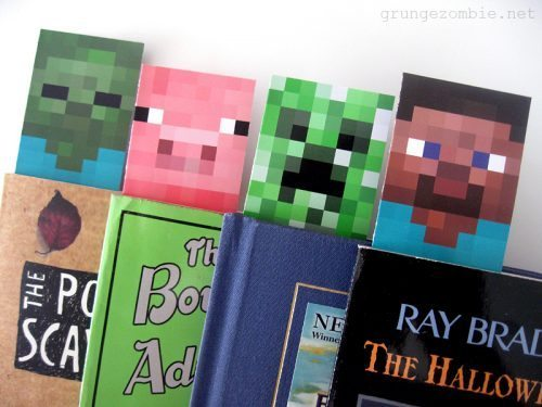 free minecraft printable bookmarks