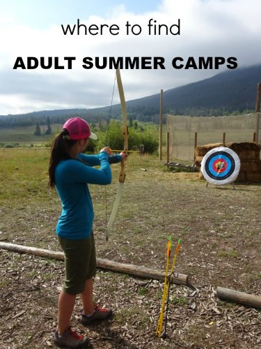 where to find adult summer camps
