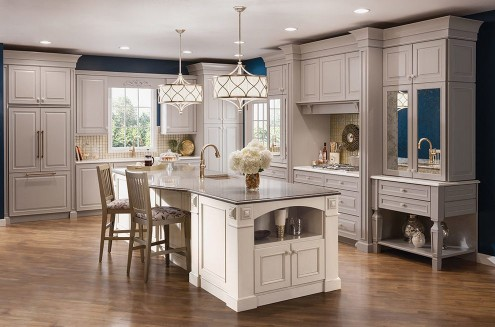 phoenix-kraftmaid-kitchen-cabinets-with-glass-cake-stands-traditional-and-beautiful