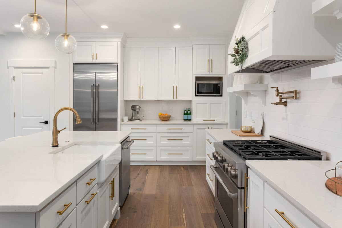 elegant kitchen, furnished and staged