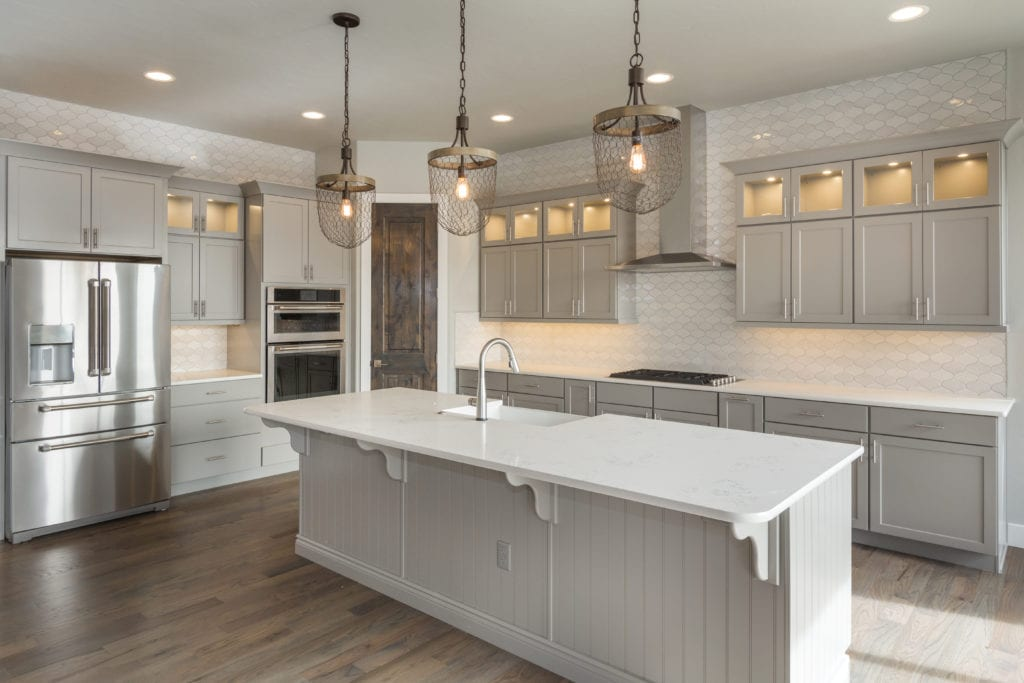 White & Grey Kitchen Remodel