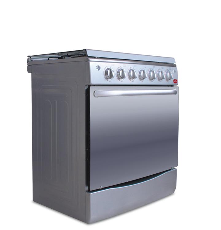 """Cocina 30"""" 6 hornillas acero inoxidable a gas"""