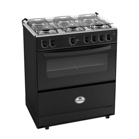 Cocina 6 hornillas fortaleza negra Condesa