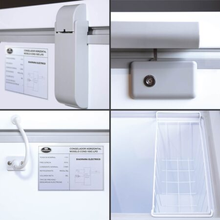 Congelador 100 litros Roraima deluxe detalles