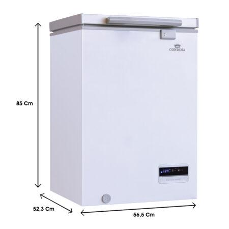Congelador 100 litros Roraima deluxe medidas