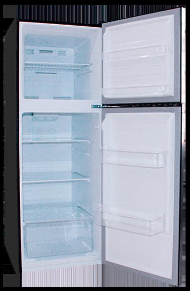 Refrigerador 290 litros negra abierta Condesa