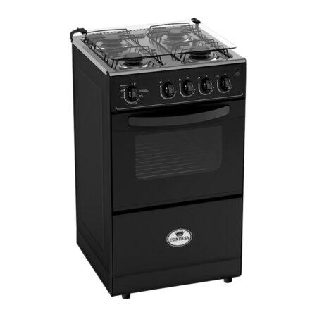 Cocina 4 hornillas Fortaleza negra Condesa