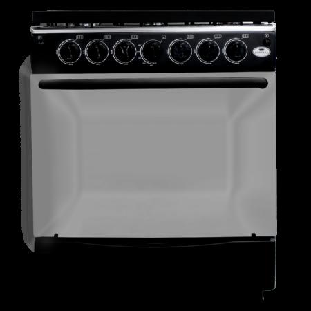 Cocina de 6 hornillas Edición Especial Negra