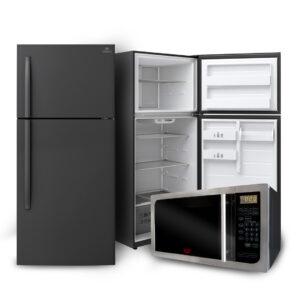 Combo refrigerador 520L y Microondas 25L