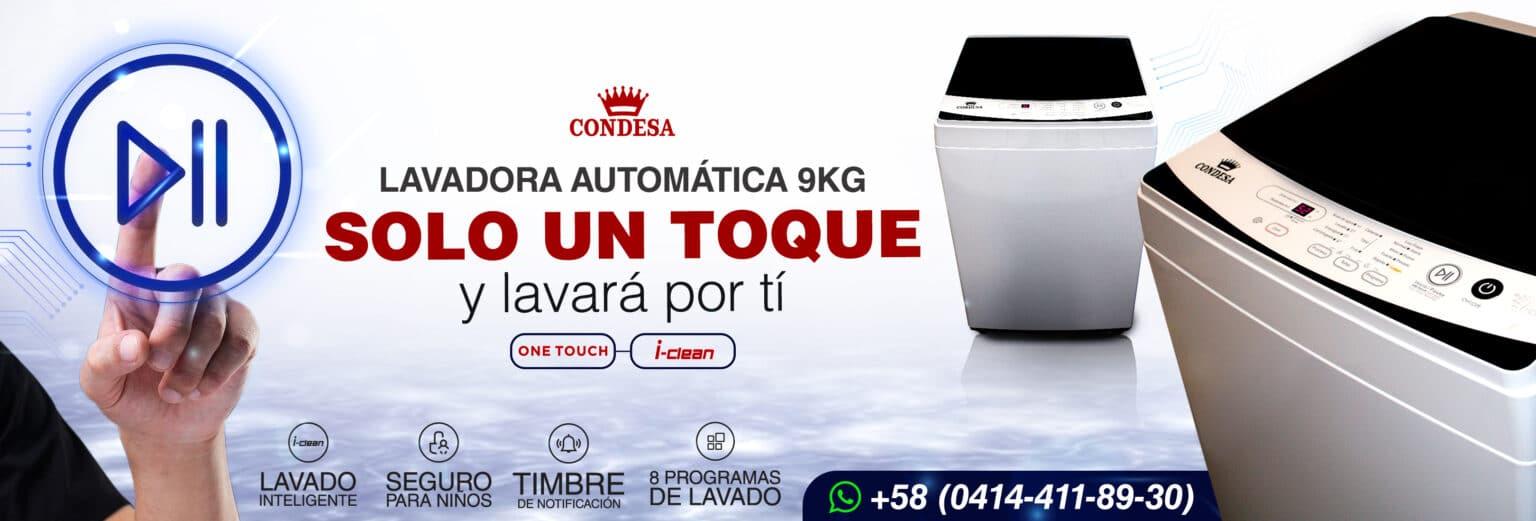 Lavadora Automática 9 Kg