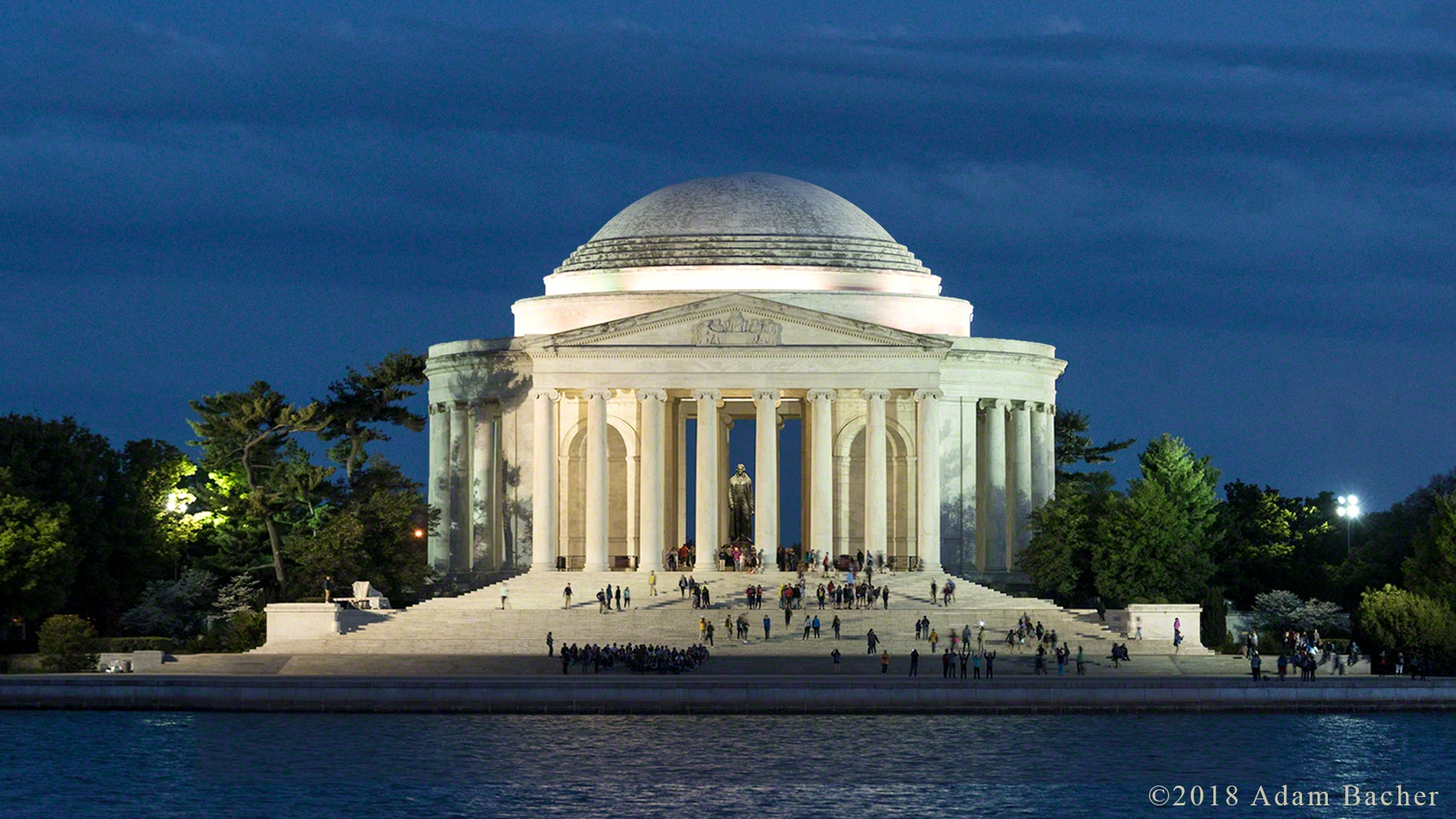 Jefferson memorial at night, Washington, DC