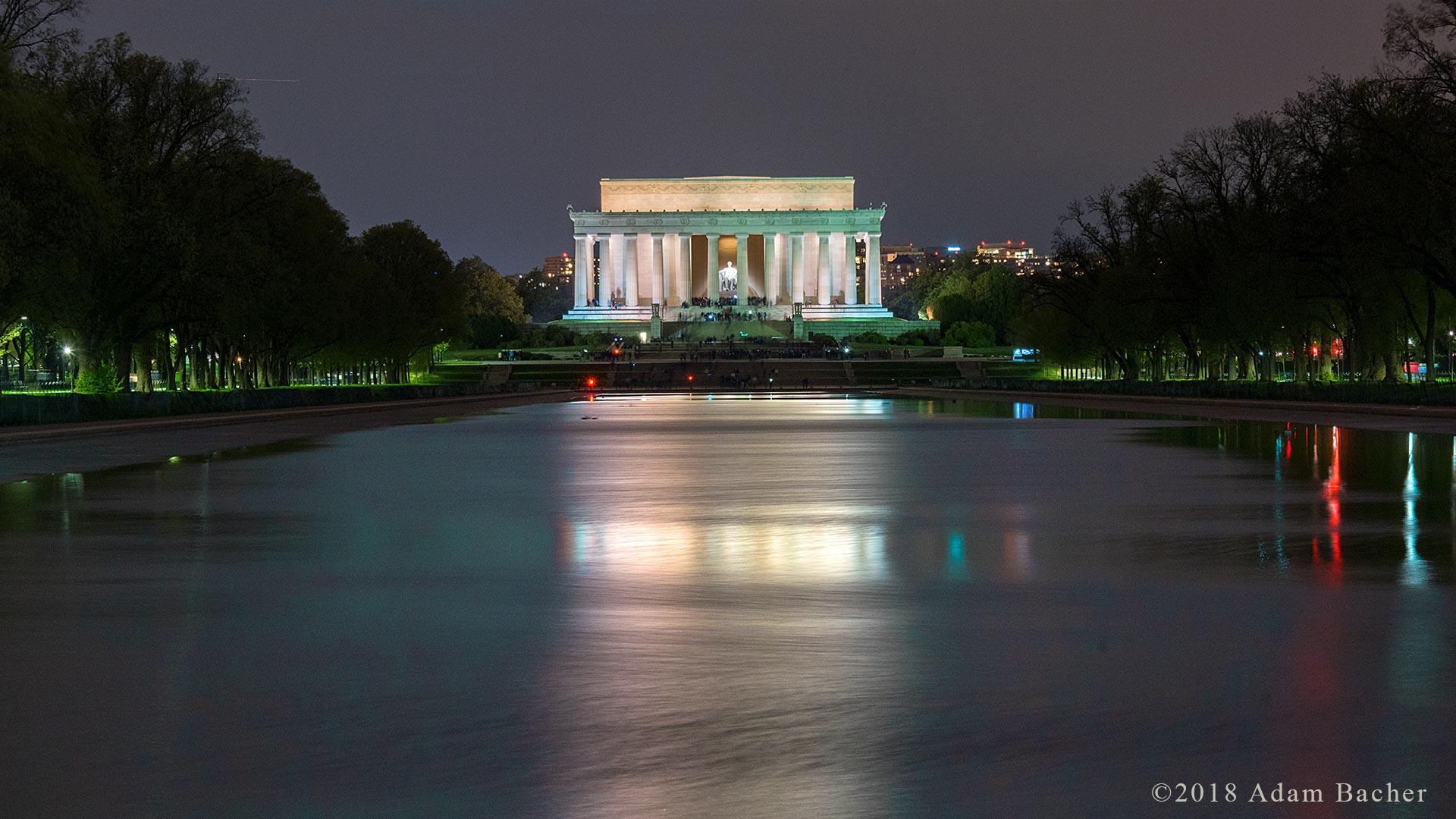 Lincoln memorial at night, Washington DC