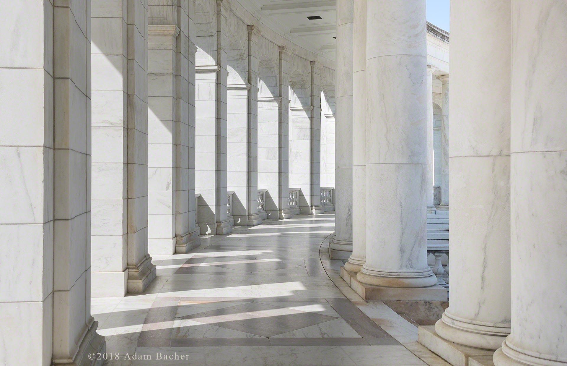 Arlington national cemetery, Washington DC. marble pillars